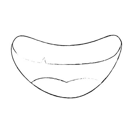 Icono de boca de dibujos animados sobre fondo blanco ilustración vectorial Foto de archivo - 82071537