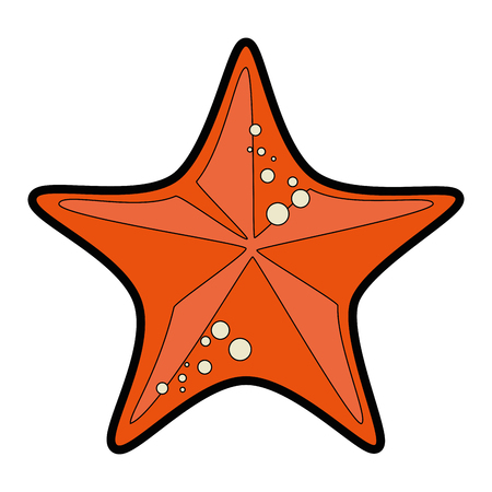 sea star icon over white background vector illustration