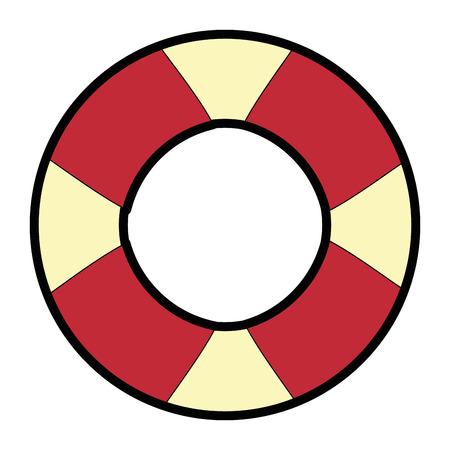 흰색 배경 벡터 일러스트 레이 션을 통해 안전 float 아이콘. 일러스트