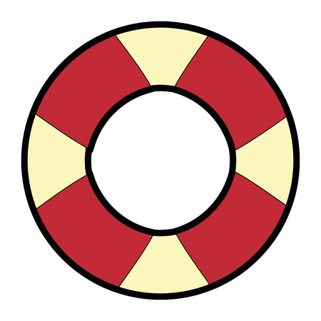 A safety float icon over white background vector illustration. Illustration