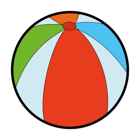 ball icon over white background vector illustration Иллюстрация