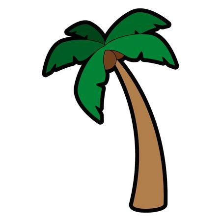 白い背景のベクトル図を熱帯のヤシのアイコン  イラスト・ベクター素材