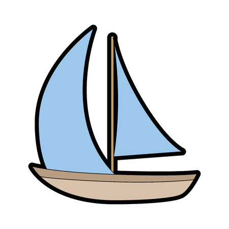 Sailboat icon over white background vector illustration Stock fotó - 82071427