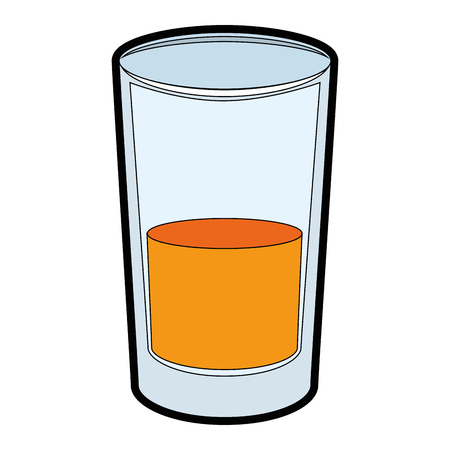 A juice glass icon over white background vector illustration. Stok Fotoğraf - 82070816