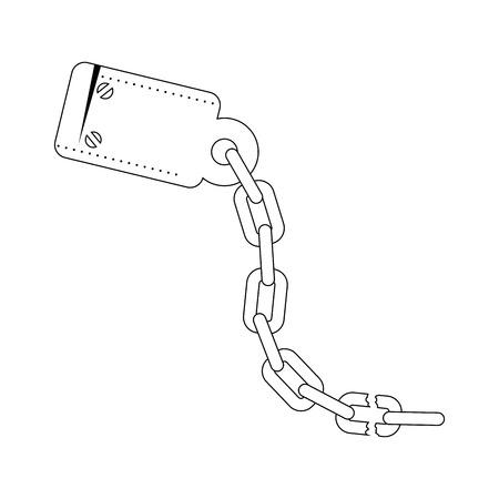 handboeien en ketting pictogram over witte achtergrond vectorillustratie Stock Illustratie