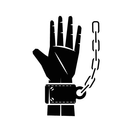 trapped: Chain of slavery icon vector illustration graphic design