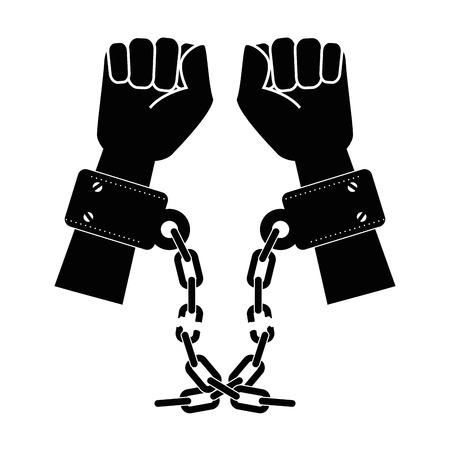 奴隷のアイコン ベクトル イラスト グラフィック デザインのチェーン 写真素材