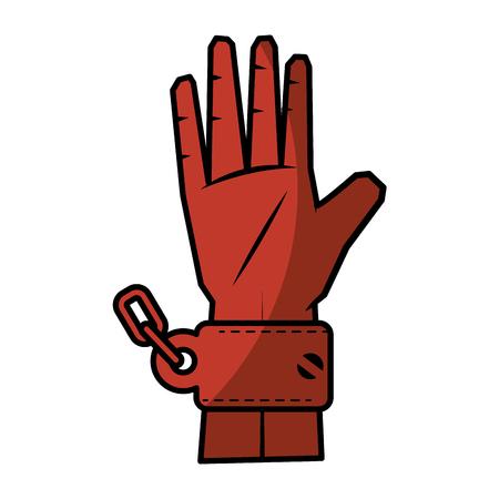 Chain of slavery icon vector illustration graphic design