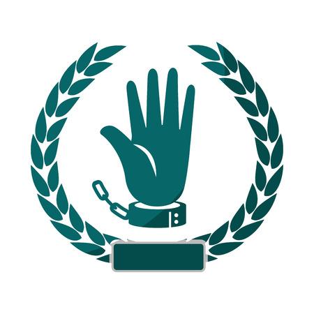 Kette der Sklaverei Icon Vektor-Illustration Grafik-Design Standard-Bild - 82069407