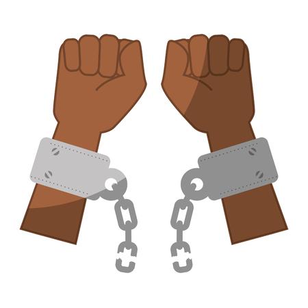 Kette der Sklaverei Symbol Vektor-Illustration Grafik-Design Standard-Bild - 82069515