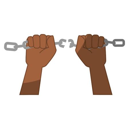 Kette der Sklaverei Icon Vektor-Illustration Grafik-Design Standard-Bild - 82072487