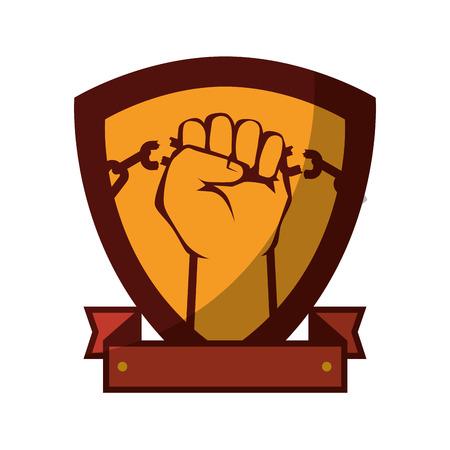 Kette der Sklaverei Icon Vektor-Illustration Grafik-Design Standard-Bild - 82072494