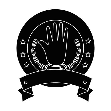노예 아이콘 벡터 일러스트 그래픽 디자인의 체인