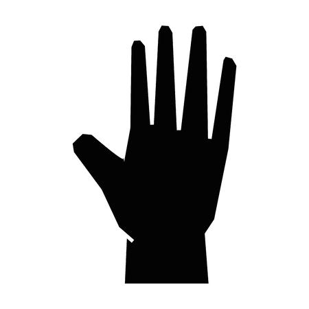 Human hand symbol icon Illustration vectorielle design graphique Banque d'images - 82069301