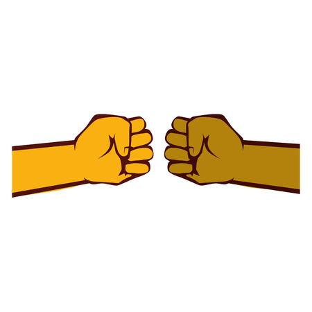 인간의 손에 기호 아이콘 벡터 일러스트 그래픽 디자인