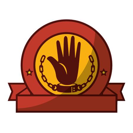 Kette der Sklaverei Icon Vektor-Illustration Grafik-Design Standard-Bild - 82072205
