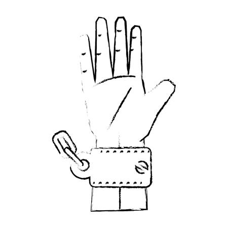 Kette der Sklaverei Symbol Vektor-Illustration Grafik-Design Standard-Bild - 82072209