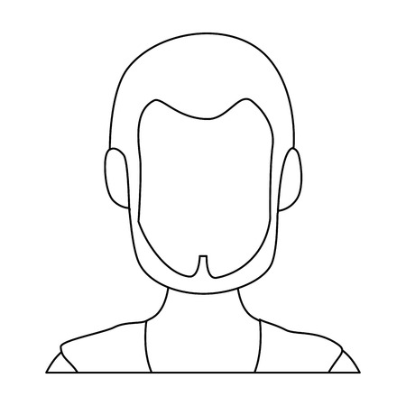 avatar man icon over white background vector illustration Stock Vector - 82072059