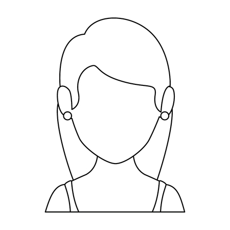 avatar woman icon over white background vector illustration