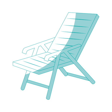beach seat icon over white background vector illustration Illustration