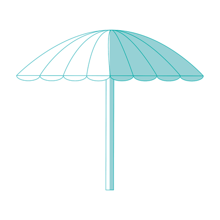 beach parasol icon over white background vector illustration Çizim