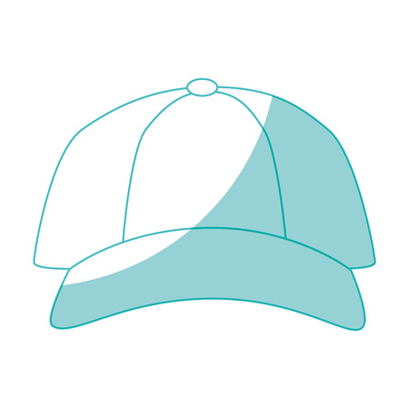 cap accessory icon over white background vector illustration
