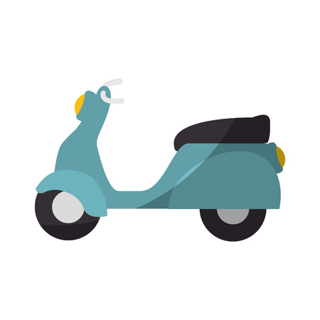 vintage motorcycle icon over white background vector illustration 向量圖像