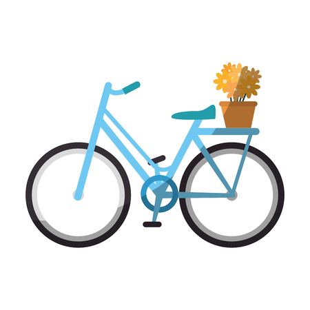 vintage bicycle icon over white background vector illustration
