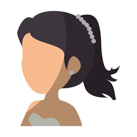 avatar woman icon over white background colorful design vector illustration 版權商用圖片 - 82072602