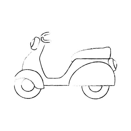 vintage motorcycle icon over white background vector illustration Illustration