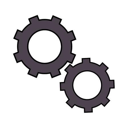 白背景ベクトル イラスト上の歯車のアイコン  イラスト・ベクター素材