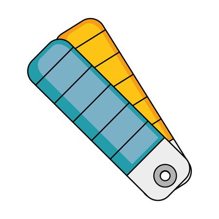 흰색 배경 벡터 일러스트 레이 션 위에 색상 선택 아이콘