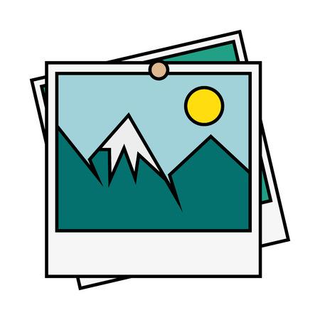 picture icon over white background vector illustration Ilustração