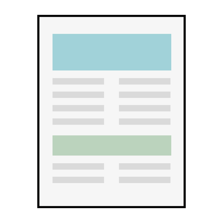 document page icon over white background vector illustration