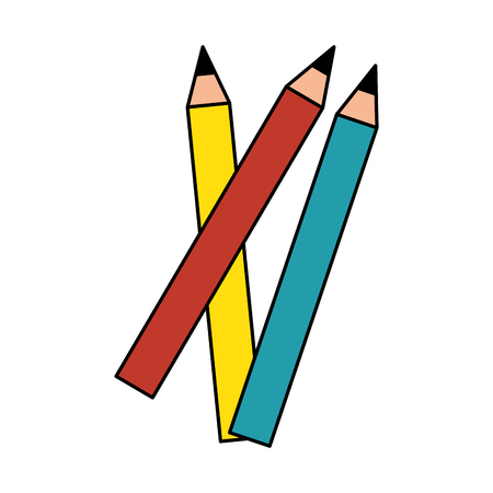 pencils icon over white background vector illustration
