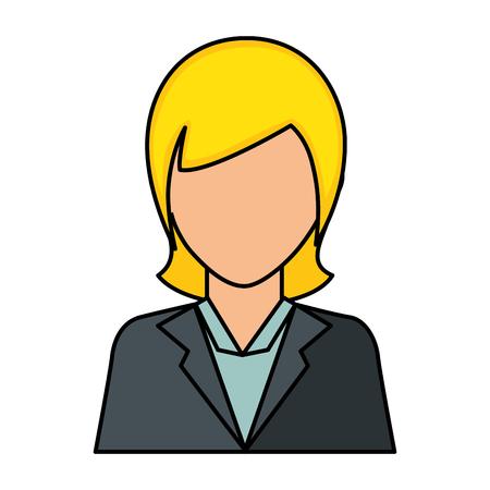 businesswoman icon over white background vector illustration