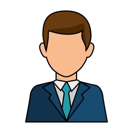 businessman icon over white background colorful design vector illustration