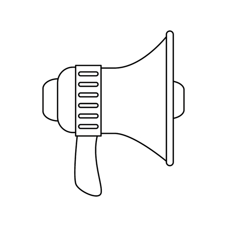 megaphone icon over white background vector illustration