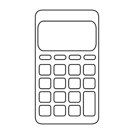 calculator icon over white background vector illustration