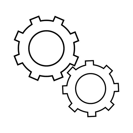 gear wheels icon over white background vector illustration Фото со стока - 82072788