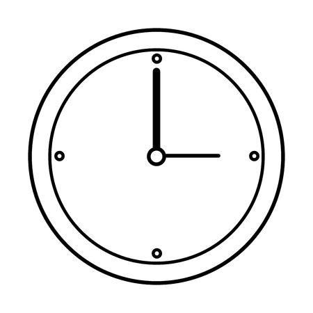 icono de reloj sobre fondo blanco ilustración vectorial Ilustración de vector