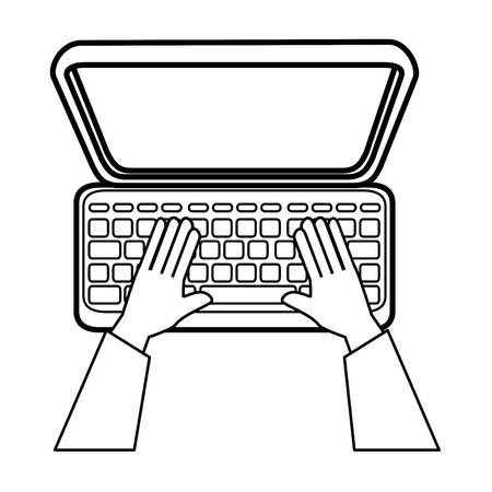 laptop computer icon over white background vector illustration 向量圖像
