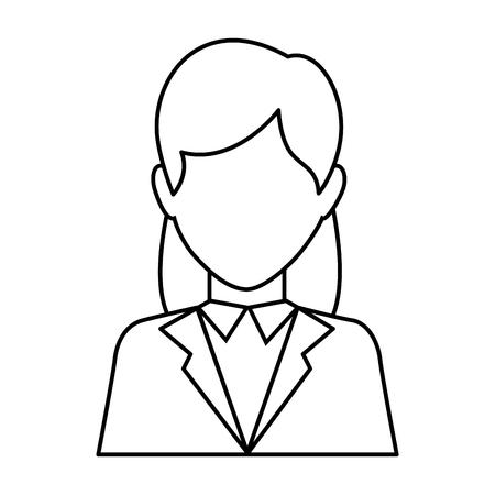 白背景ベクトル イラスト上の実業家アイコン  イラスト・ベクター素材