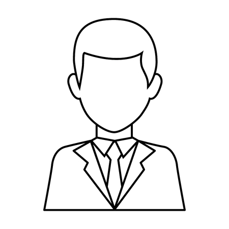 businessman icon over white background vector illustration