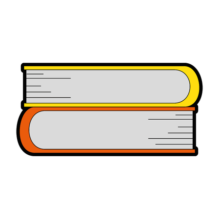 books icon over white background vector illustration