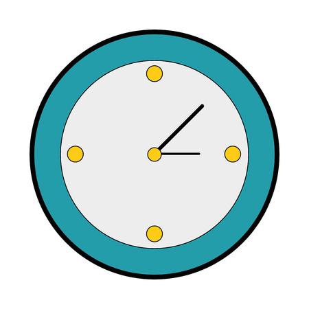 clock icon over white background vector illustration Stok Fotoğraf - 82072818