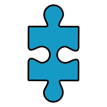 jigsaw puzzle icon over white background vector illustration Illustration