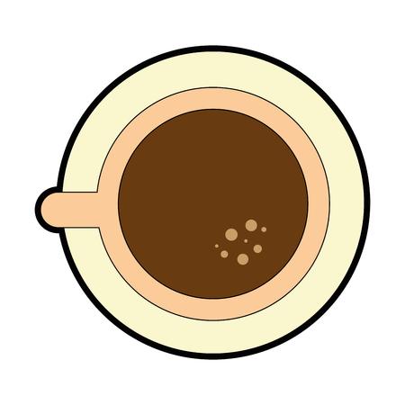 Koffiemok pictogram op witte achtergrond vector illustratie