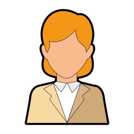 zakenvrouw pictogram over witte achtergrond vectorillustratie Stock Illustratie