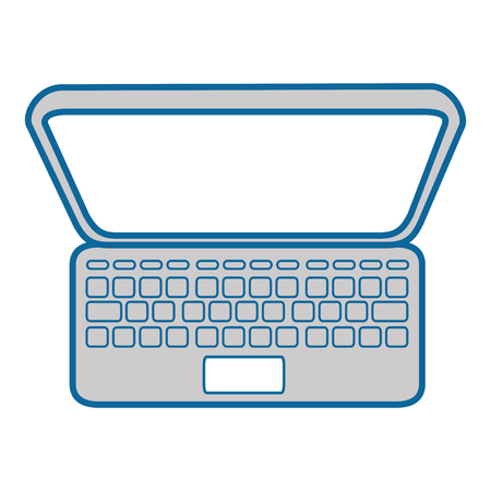 laptop computer icon over white background vector illustration Illustration
